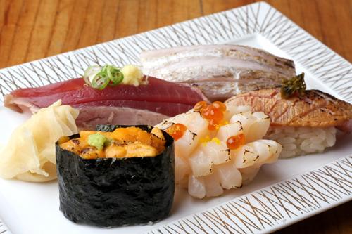 本日の炙り握り寿司